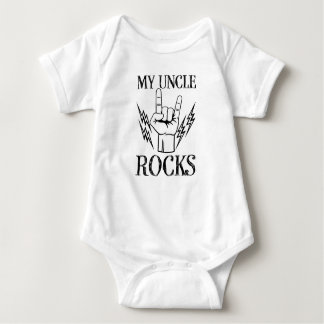 My Uncle Rocks funny nephew shirt baby