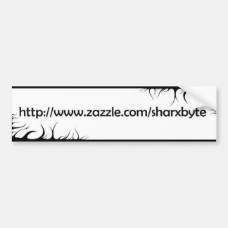 My URL (White, black text) Bumper Sticker