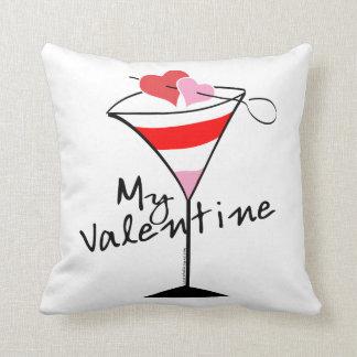 My Valentine Heart Martini Design Cushion