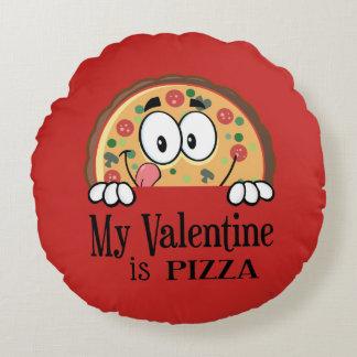 My Valentine Is Pizza / I Love Pizza Round Cushion