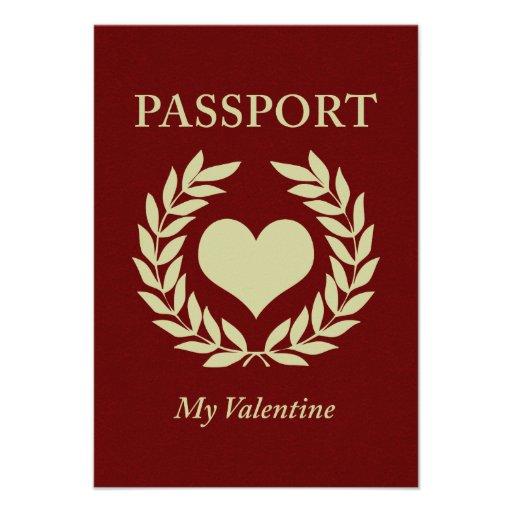 my valentine passport invite