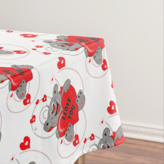 Exceptional My Valentine Teddy Bear Tablecloth
