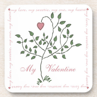 My Valentine Tree Coaster Set