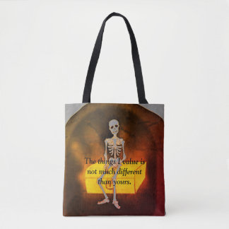 My values tote bag