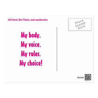 My Voice My Choice postcard