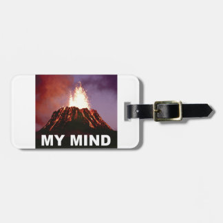 my volcano mind luggage tag