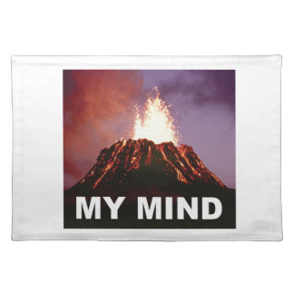 my volcano mind placemat
