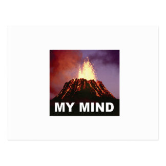 my volcano mind postcard