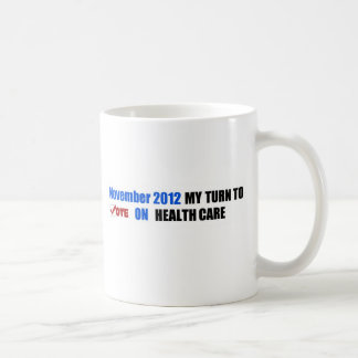 my vote bumper classic white coffee mug