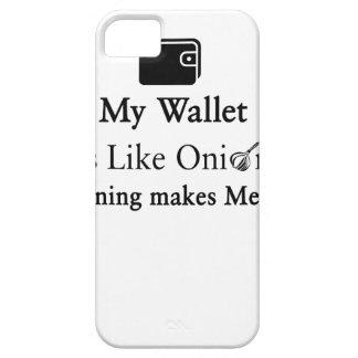 My Wallet is Like an Onion, Opening Makes Me Cry iPhone 5 Covers
