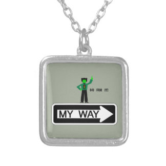 My Way - Go For It! Silver Plated Necklace