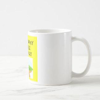 my way or the highway basic white mug