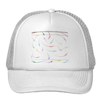 My Way Rainbow Colored Arrows on White Hat