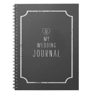 My Wedding Journal - add your initial