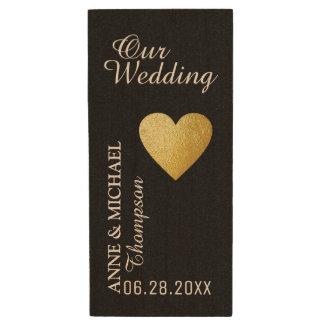 my wedding photos , great memories wood USB flash drive