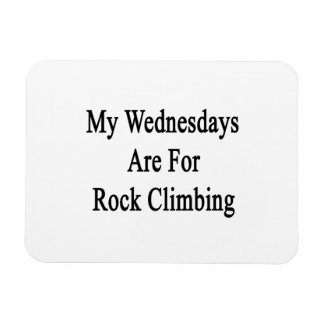 My Wednesdays Are For Rock Climbing Flexible Magnet