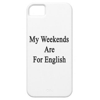 My Weekends Are For English iPhone 5 Covers