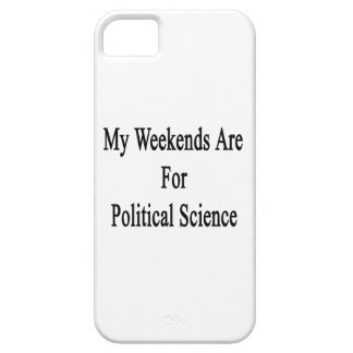 My Weekends Are For Political Science iPhone 5 Covers