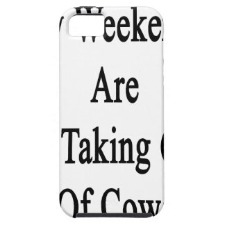 My Weekends Are For Taking Care Of Cows iPhone 5 Covers