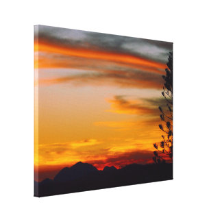 My Wheeler silhouette sunset canvas print