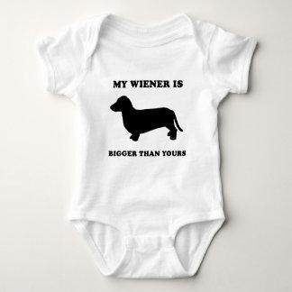 My Wiener is bigger than yours Baby Bodysuit