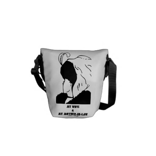my wife and my mother in law optical illusion tote bag