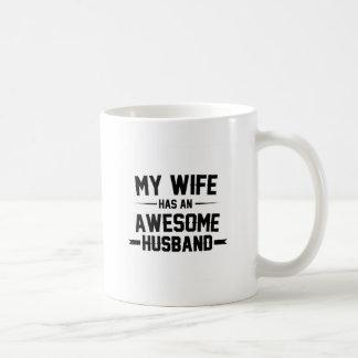 My Wife has an Awesome Husband Coffee Mug