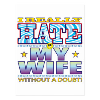 My Wife Hate Face Postcard
