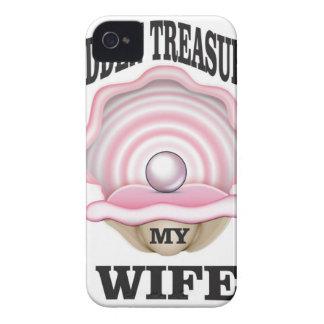 my wife hidden treasure yeah iPhone 4 Case-Mate case