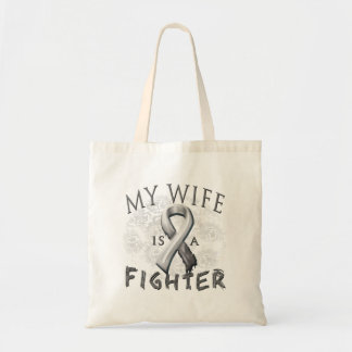 My Wife Is A Fighter Grey Canvas Bags