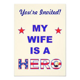 My Wife Is A Hero 13 Cm X 18 Cm Invitation Card