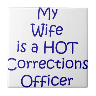 My wife is a hot corrections officer small square tile
