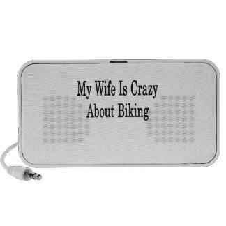 My Wife Is Crazy About Biking Notebook Speaker