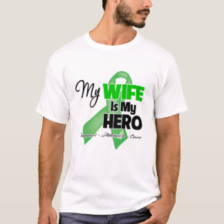My Wife is My Hero - Kidney Cancer T-Shirt