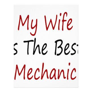 My Wife Is The Best Mechanic Custom Flyer