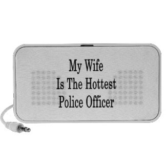 My Wife Is The Hottest Police Officer iPhone Speakers