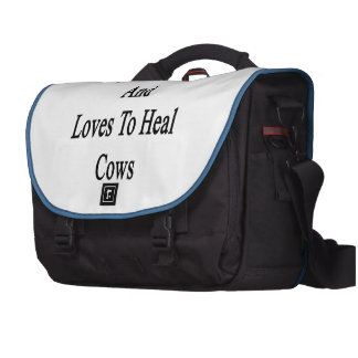 My Wife Lives And Loves To Heal Cows Laptop Bag