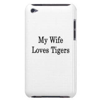 My Wife Loves Tigers Barely There iPod Case