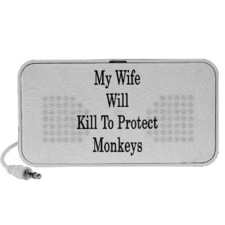 My Wife Will Kill To Protect Monkeys Mp3 Speaker