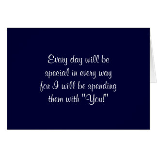 MY WISH TO MY BRIDE OR GROOM ON WEDDING DAY GREETING CARD