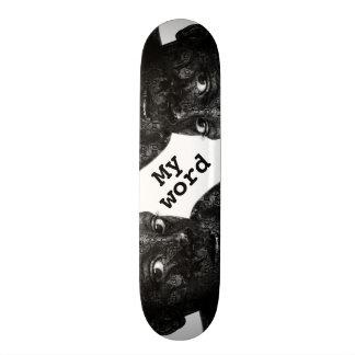 my word in blacq skate deck