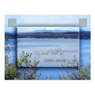 My Words Shall Not Pass Away Postcard