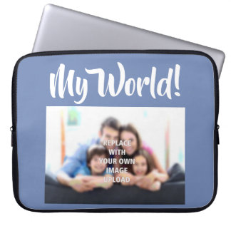 """My World"" - Family Photo on a Laptop Sleeve"