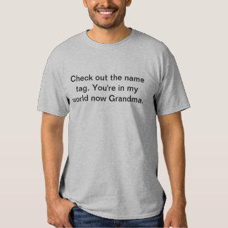 My World Grandma T Shirt