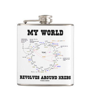 My World Revolves Around Krebs Biochemistry Humor Hip Flask
