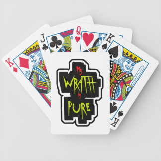 My WRATH is PURE Bicycle Playing Cards