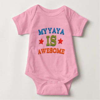 My Yaya is Awesome Baby Bodysuit