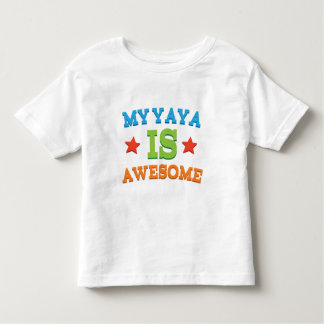 My Yaya is Awesome Toddler T-Shirt