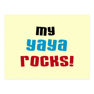 My Yaya Rocks T shirts and Gifts Postcard