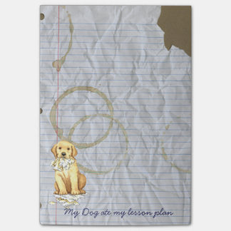 My Yellow Lab Ate my Lesson Plan Post-it® Notes